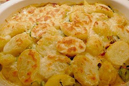 Kartoffel-Lauch-Auflauf mit Hackfleisch