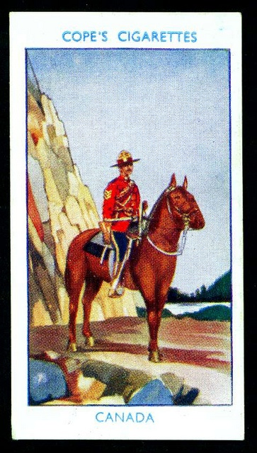 Cigarette Card - Canadian Mounted Police by cigcardpix, via Flickr