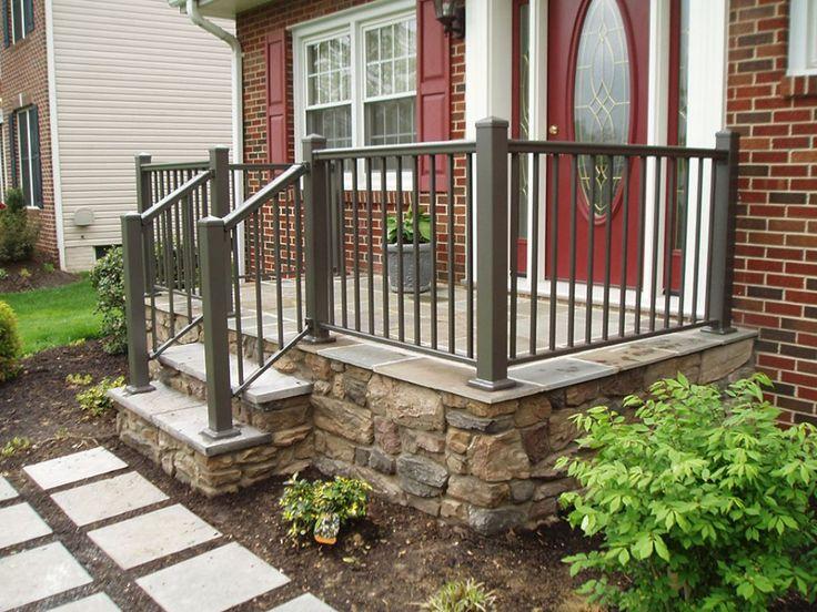 Best Dark Green Front Porch Railing In A Beautiful Red Brick 400 x 300