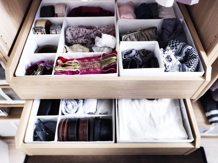 IKEA drawer organizers. I live by these. We all have them for our underwear!