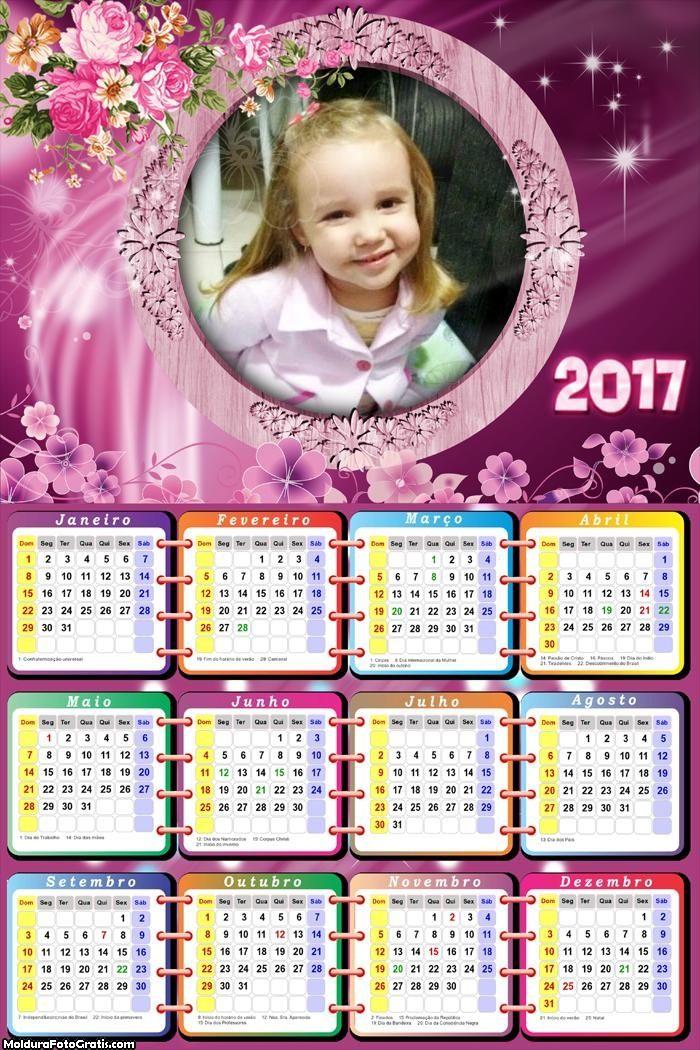 Calendário das Flores 2017