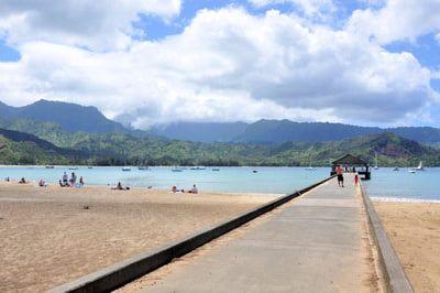 Tour of locations where movies were filmed.  Hanalei Pier, Hanalei, Kauai