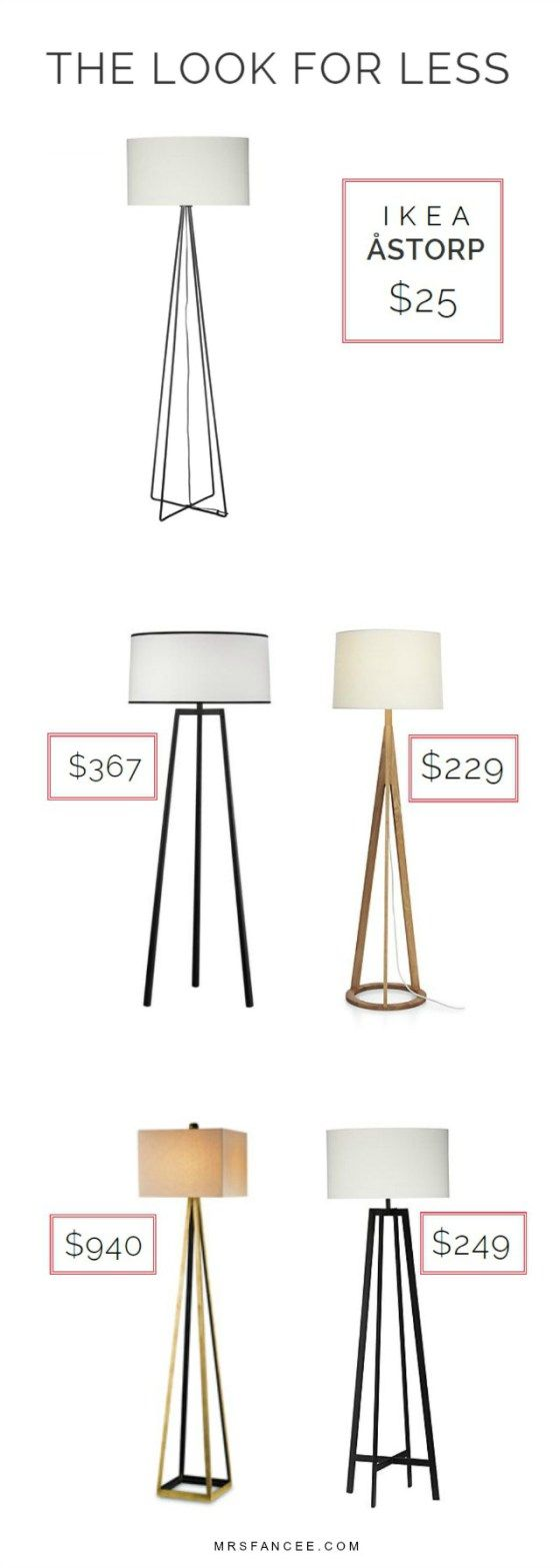 Get the look for *WAY* less!!  |  IKEA Astorp Floor Lamp for $25 |  Mrs. Fancee