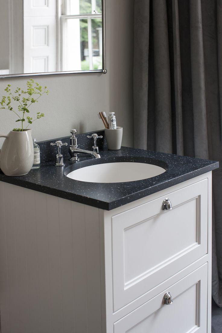 Minerva bathroom tops minerva - Bring Traditional Elegance To Your Bathroom With The Burlington Matt White Two Drawer Vanity Unit With Minerva Worktop Basin