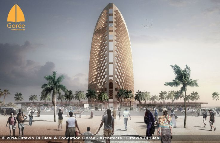 Le mémorial de Gorée à Dakar vue de l'entrée principale par Ottavio Di Blasi - www.memorialdegore.org