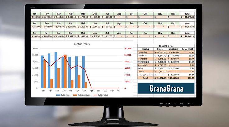 Controle melhor seus gastos com a planilha do GranaGrana.