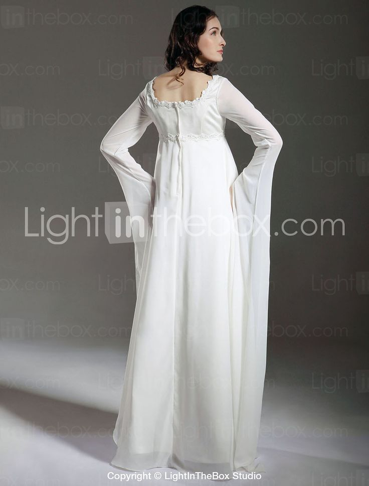 Lanting Bride® Eng anliegend Schwangerschaft Hochzeitskleid - Klassisch & Zeitlos / Schick & Modern Durchsichtig Boden-Länge Quadratisch 249429 2016 – €88.19