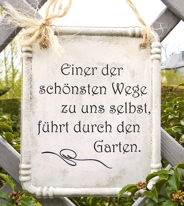 Dekoschild Für Gartenfreunde, Garten Deko, Schild Mit Spruch / Decoration  Sign Made Of Concrete