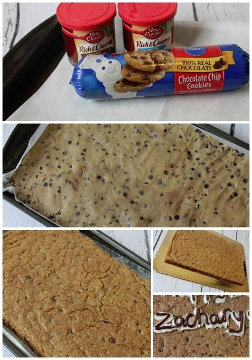 Sheet Pan Cookie Cake Recipe Form Cookies And Chocolate Chip