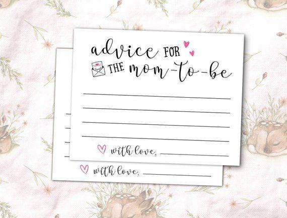 Advice Cards Advice Cards Baby Shower Advice Cards For Mom