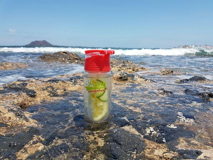 Fresh drink at the beach #FreshFles