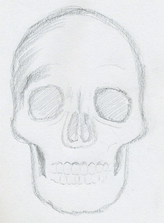 What to draw click the image to enlarge easy skull drawingspencil drawingsart