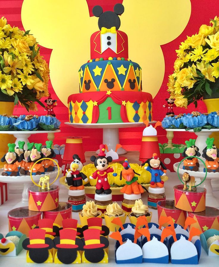 Circo mickey mouse party ideas fiestas tem ticas - Fiesta tematica mickey mouse ...