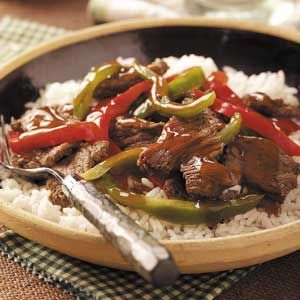 Sweet Pepper Venison Stir-Fry. Sounds SO good. Doing this with the meat I have!