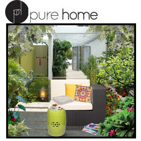 """Pure Home Outdoors"" by melissa-de-souza on Polyvore"