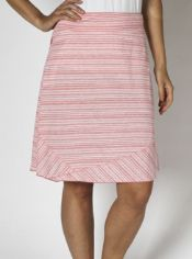 Be cute and comfy in the Go-To Stripe Skirt, crafted from a drirelease® ...