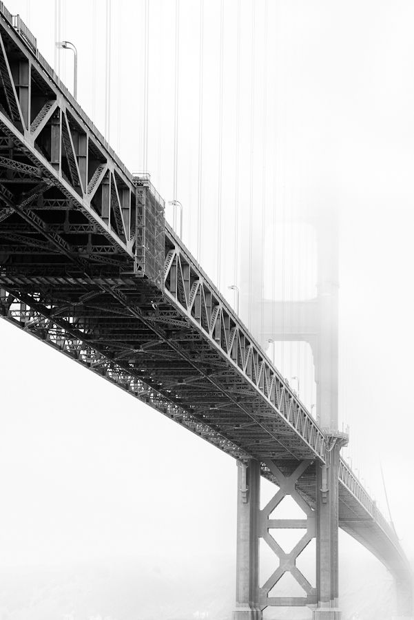♂ Black and white photography Misty bridge perspective Topless by Jared Lim