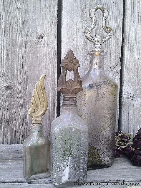 finials and old bottles ♥♥ I just love old finials.  so much to do with them