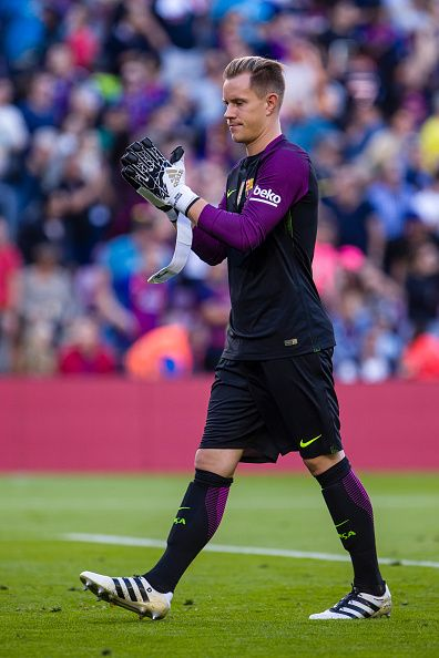Ter Stegen during the match between FC Barcelona vs RC Deportivo for the round 8 of the Liga Santander played at Camp Nou Stadium on 15th Oct 2016 in...