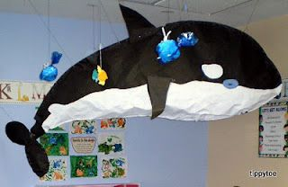 WOW - I want to make one of these for next year's ocean/whale unit!
