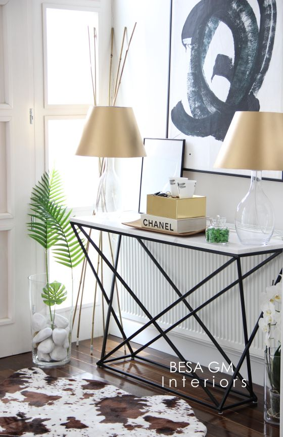 Marble Console Table For Your Entryway and How To Style It   BESA GM
