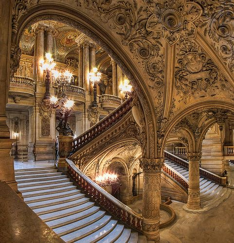 wow, Opéra - Palais Garnier, Paris France.would like to  see it one day...