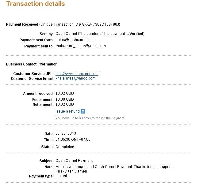 this is my 5th payment