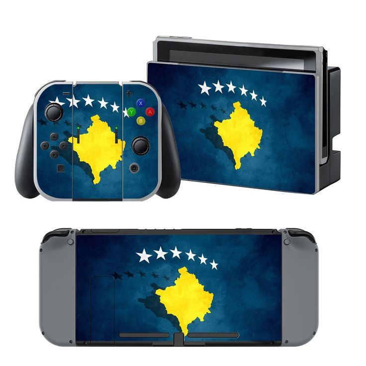 Kosovo flag design vinyl decal for Nintendo switch console sticker skin