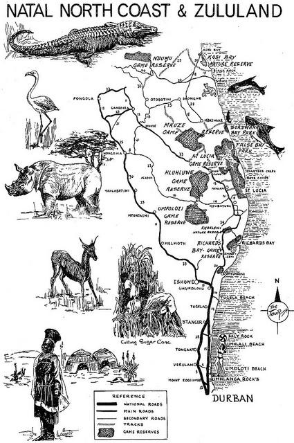 Natal North Coast & Zululand Road Map | Flickr - Photo Sharing!