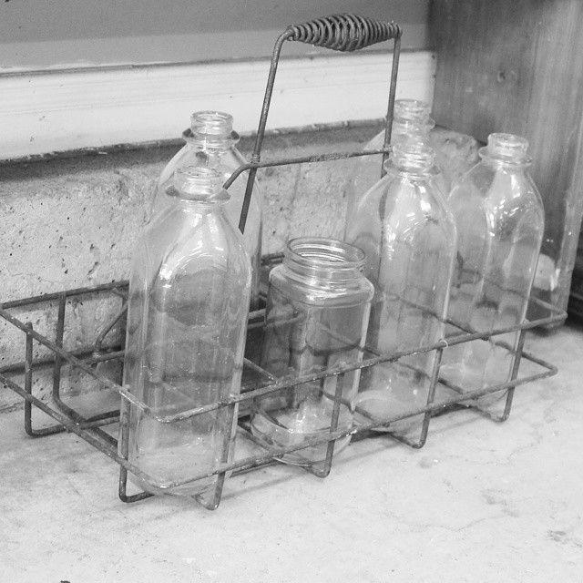 Old milk bottles https://instagram.com/p/2049xFBDnr/?taken-by=amandashane47