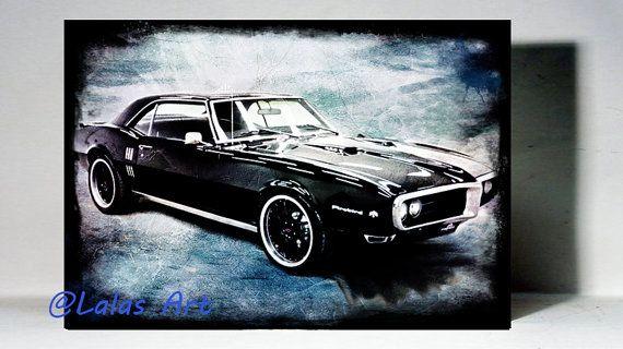 Vintage Retro Style Art Old-timer Firebird by LalasArtWorld