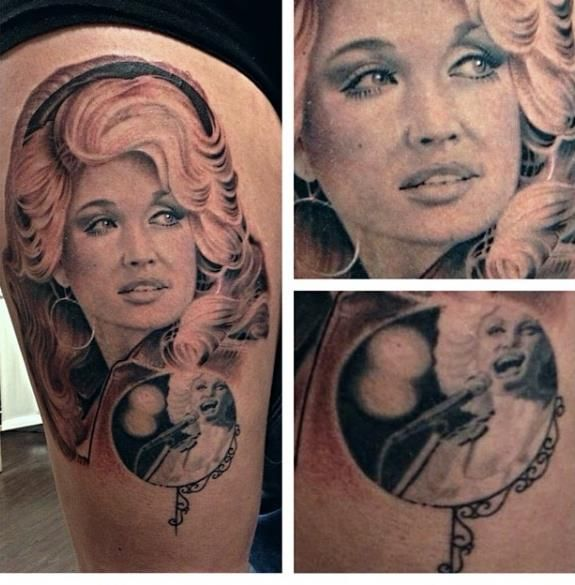 35 Amazing Dolly Parton Tattoos   NSF - Part 3