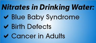 Nitrates in drinking water causes Blue Baby Syndrome, birth defects & cancer