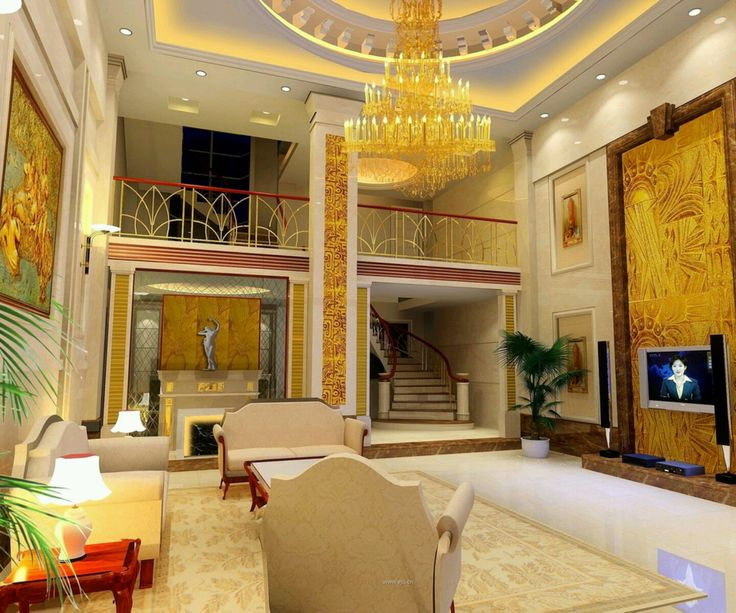 Luxury pop ceiling for living room with high ceiling and Tall ceilings interior design
