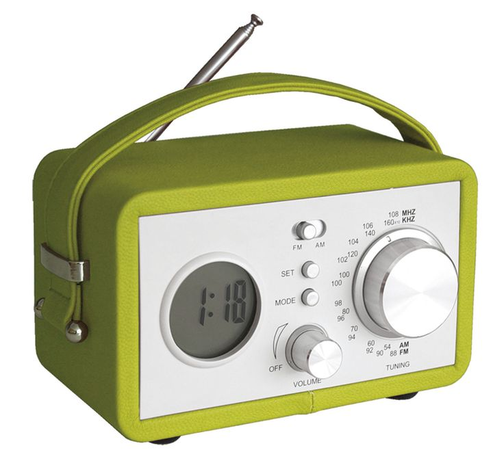 Radio réveil vintage #radio #réveil #vintage #vert #green #deco