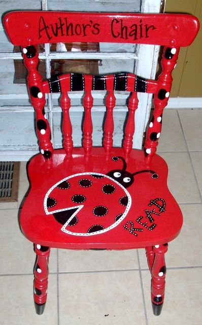 Cute Author's Chair for the classroom.
