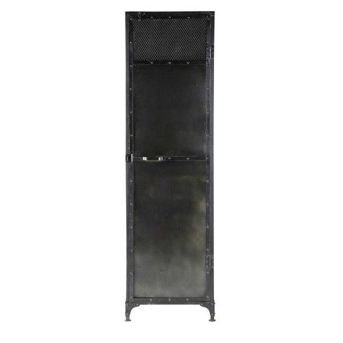 Guardaroba nero in metallo effetto anticato L 55 cm