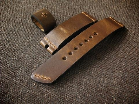 Brown Ammo Handmade Leather Watch Strap, $111.01 (http://www.basandlokes.com/warmoose-handmade-watch-strap/)