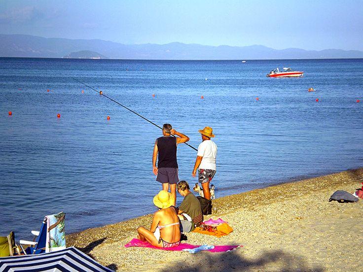 Fishing time at #Polichrono beach  #Halkidiki #Greece  http://gohalkidiki.com/