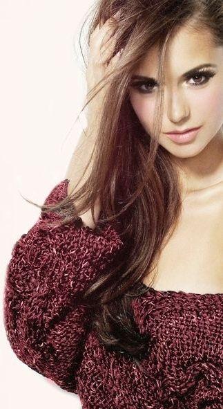 The sweater, the hair, the makeup...Nina Dobrev ♥