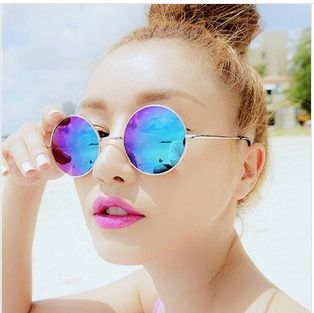1 пара старинный стиль поляризованных солнцезащитных очков круглые очки вс зеркало линзы солнцезащитных очков очки женщин и мужчин 117,73