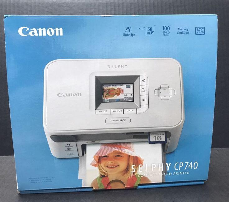 Canon SELPHY CP740 Digital Photo Inkjet Printer New In Box