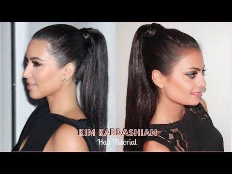 Sleek High Ponytail Tutorial | Kim Kardashian Hair Tutorial 2015