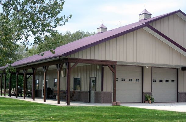 Great 50 x 60 residential metal building w porches hq for 50 x 60 garage plans