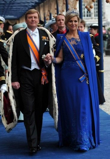 The king and the queen of the Netherlands