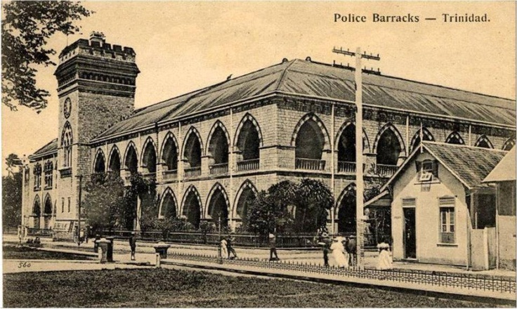 Headquarters of the Trinidad Constabulary (1896)    The Headquarters of the Trinidad and Tobago Police Service is one of the most imposing buildings in the capital. Located on St. Vincent St. it became a permanent home for the Trinidad Constabulary, forerunner of the TTPS which existed from the 1840s but which had previously done without a permanent abode.