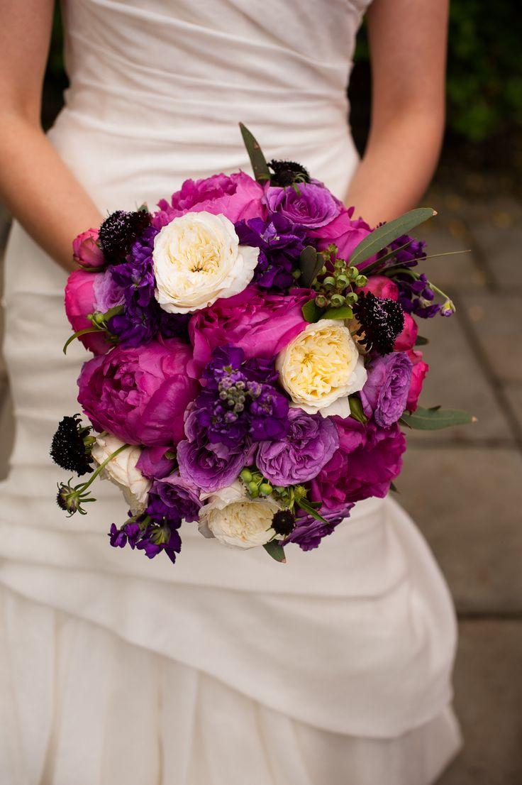 Magenta And Purple Bridal Bouquet Jewel Tones Www