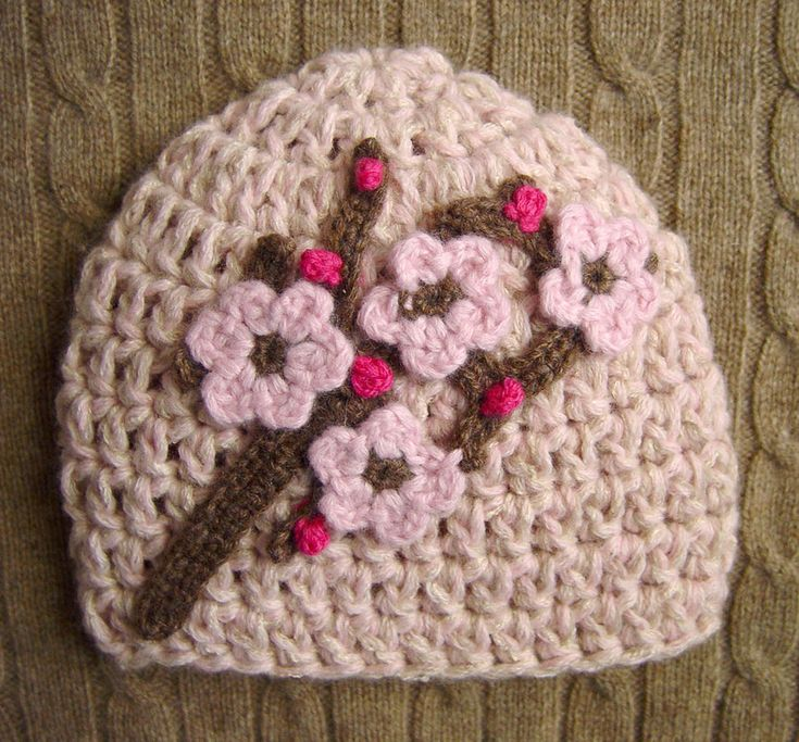 Flower Crochet Hat