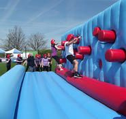 Inflatable obstacle course for hire