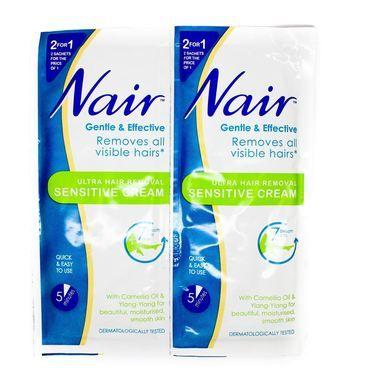 Nair Ultra Hair Removal Sensitive Cream Sachets 2x30ml